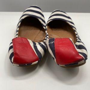 Lucky Brand Womens Ballet Flats Blue White Red